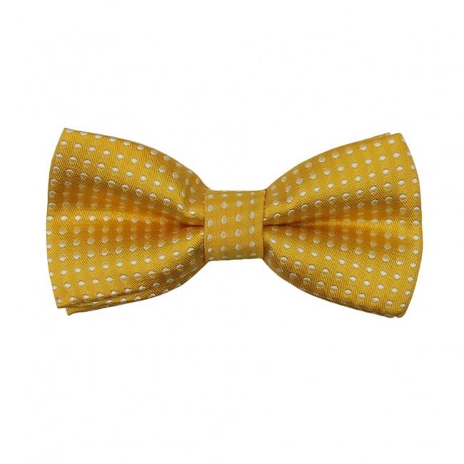 Žlutý dětský motýlek s puntíky