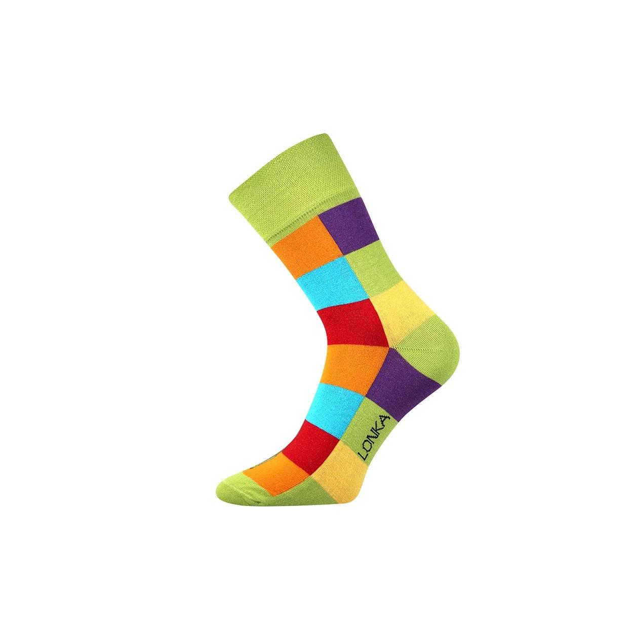 Zelené pánské ponožky s kostkami Decube
