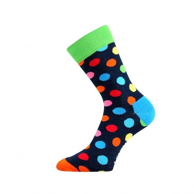 Zelené pánské ponožky puntíky WOODOO