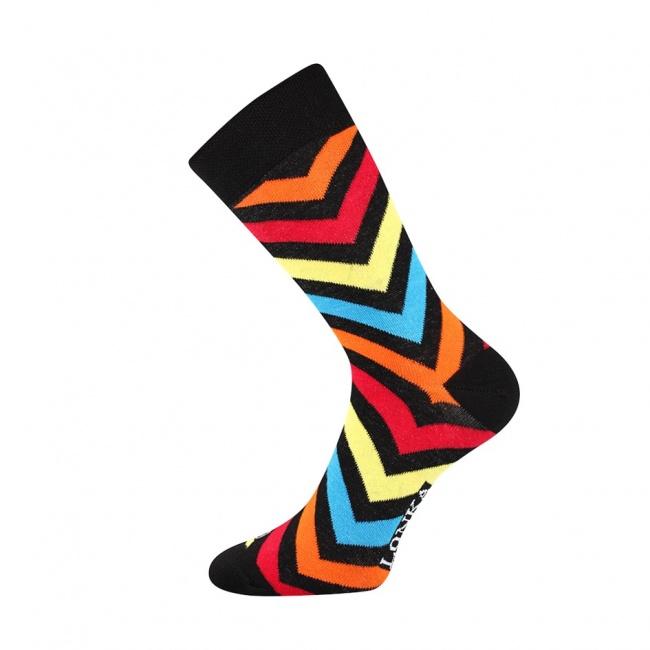 Černé pánské ponožky s šipkami WOODOO