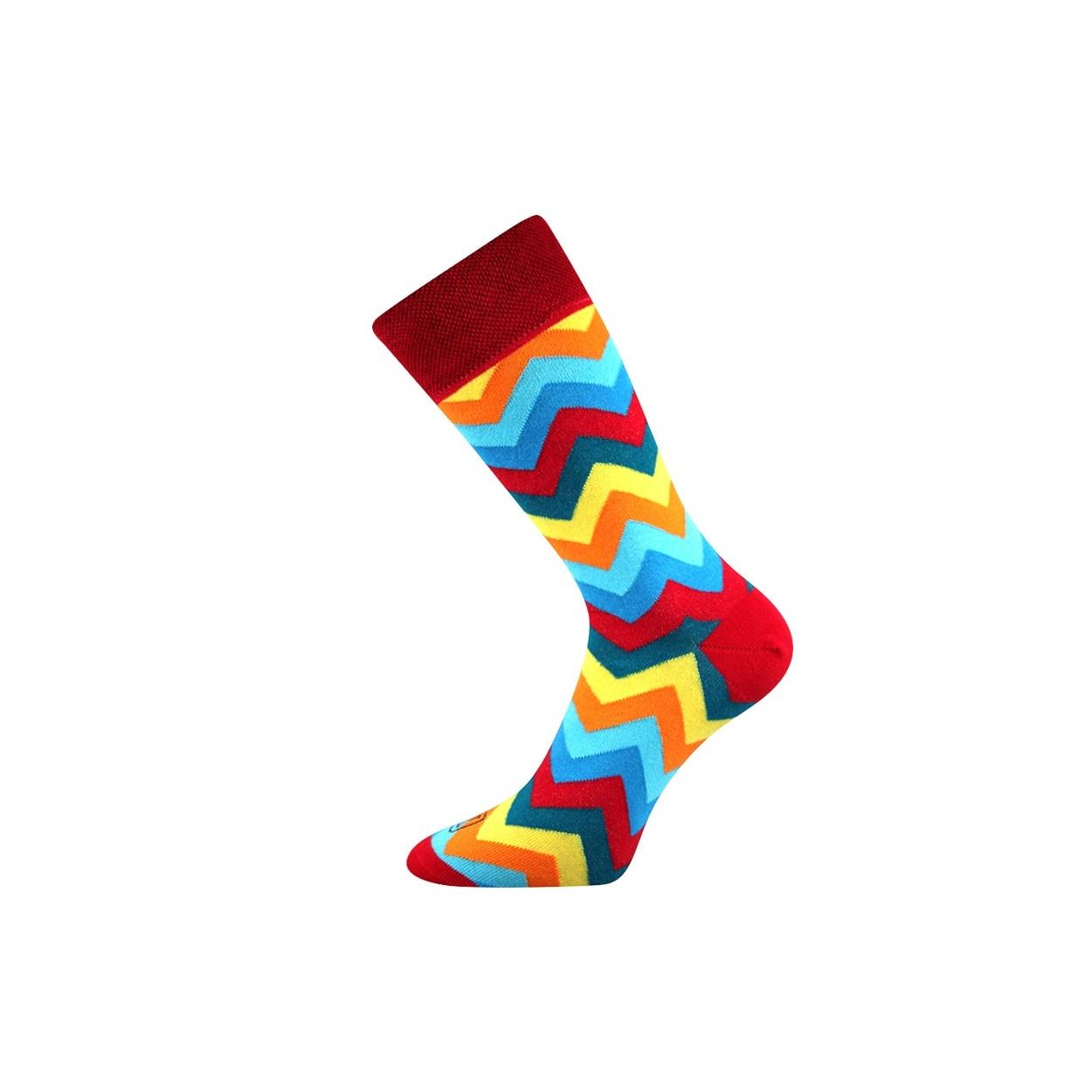 Červené pánské ponožky s klikaticemi WATT