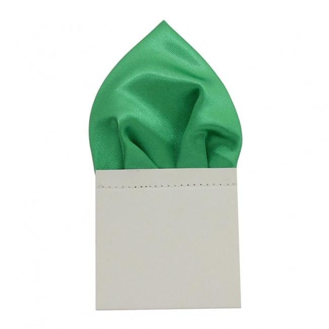Zelený pánský kapesníček do saka lesklý