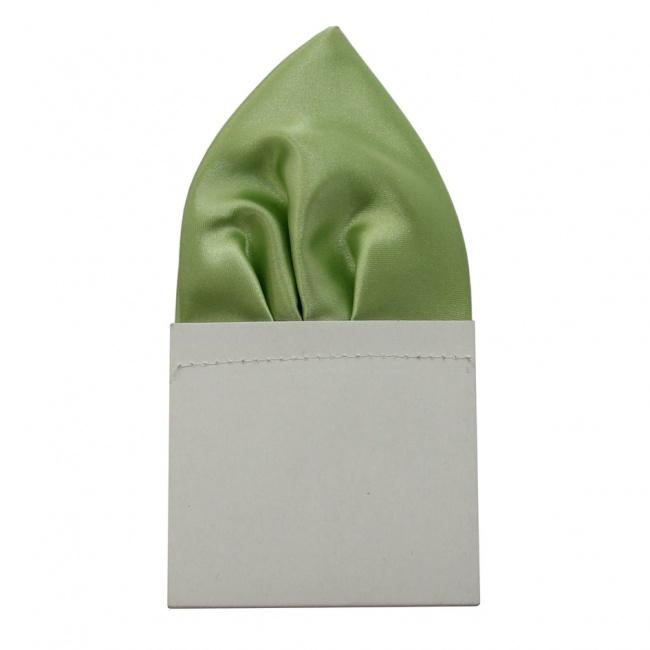 Pistáciově zelený pánský kapesníček do saka lesklý