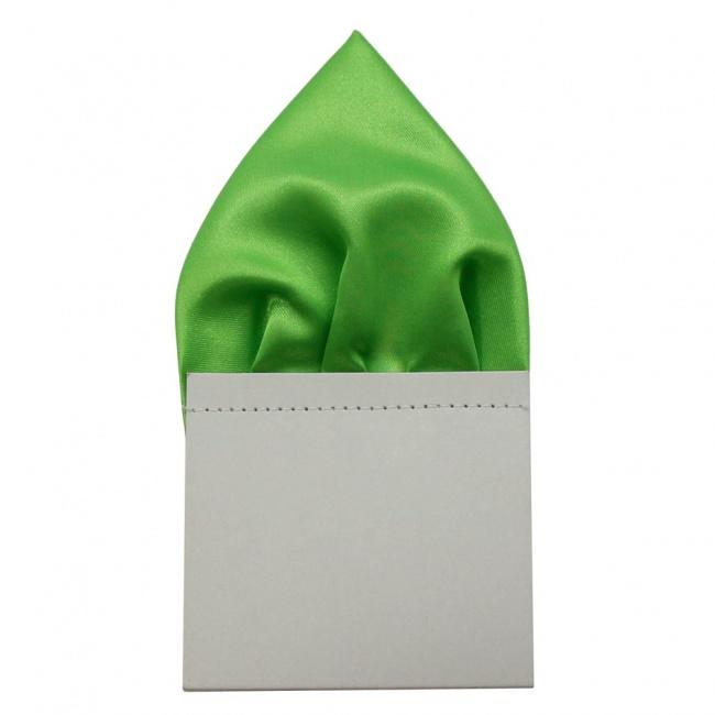 Zářivě zelený pánský kapesníček do saka lesklý