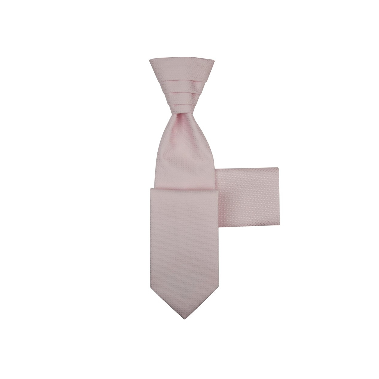 Světle růžová svatební kravata s kapesníčkem - Regata se světle růžovými trojúhelníčky