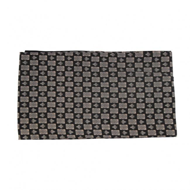 Černá pánská šála s béžovo šedými dlaždicemi