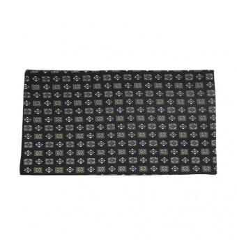 Černá pánská šála s béžovo bílo šedými dlaždicemi 2