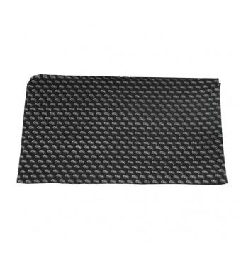 Černá pánská šála s šedo bílým paisley vzorem 2