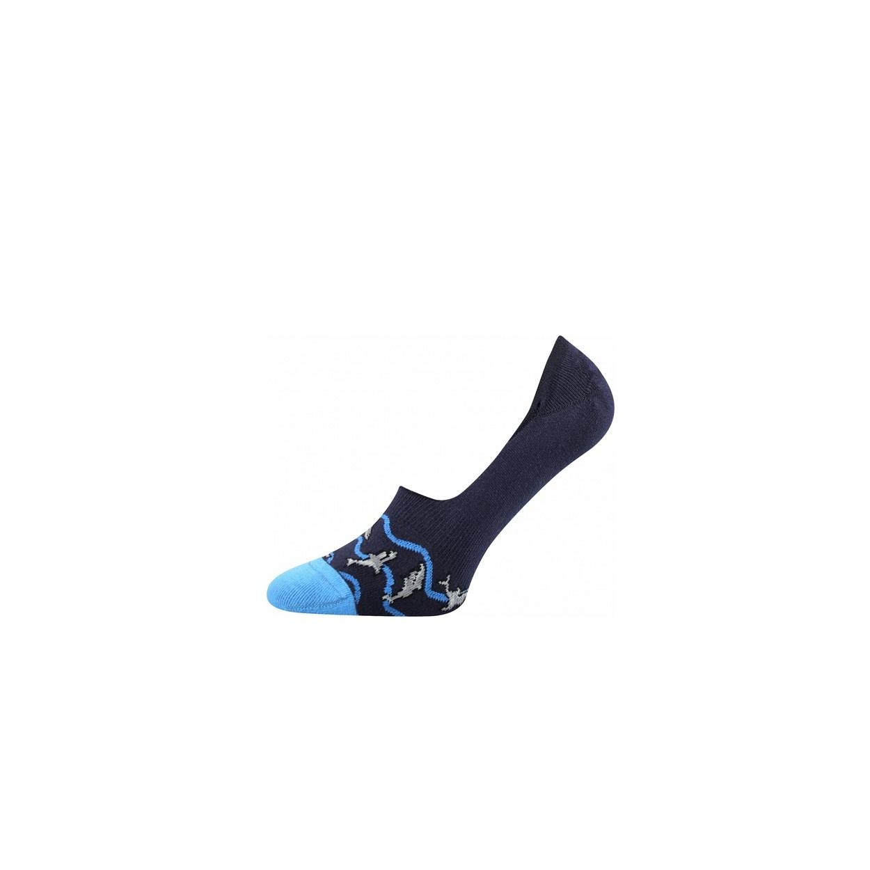 Tmavě modré pánské nízké ponožky ŽRALOK  3773ce31b7