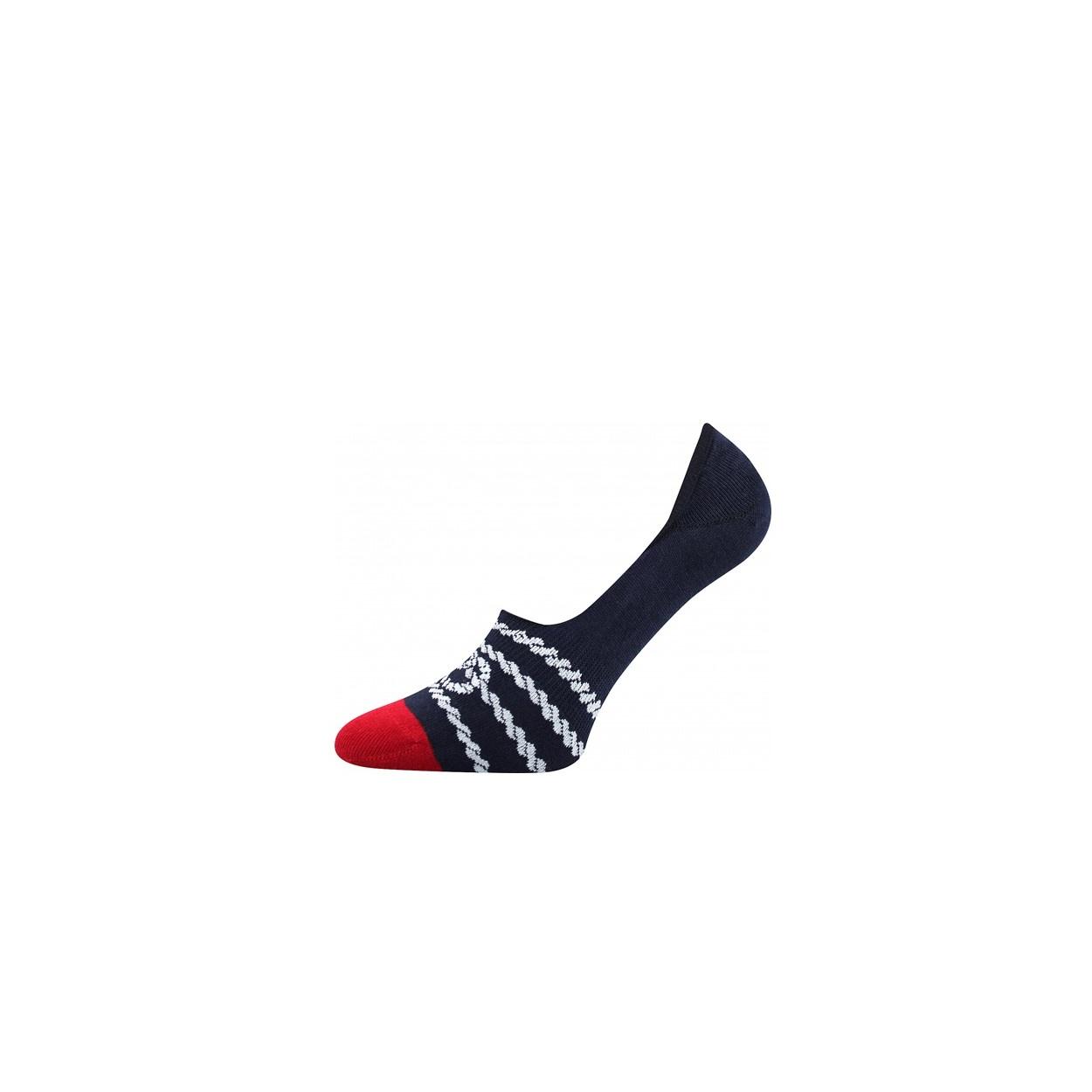Tmavě modro červené pánské nízké ponožky PROVAZ. 62 7e9eda146c