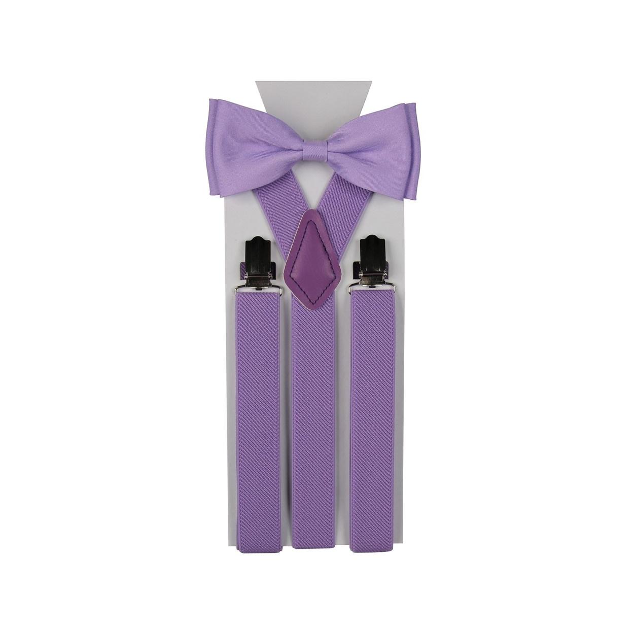 Pánský set šle a motýlek jednobarevný ve fialové barvě