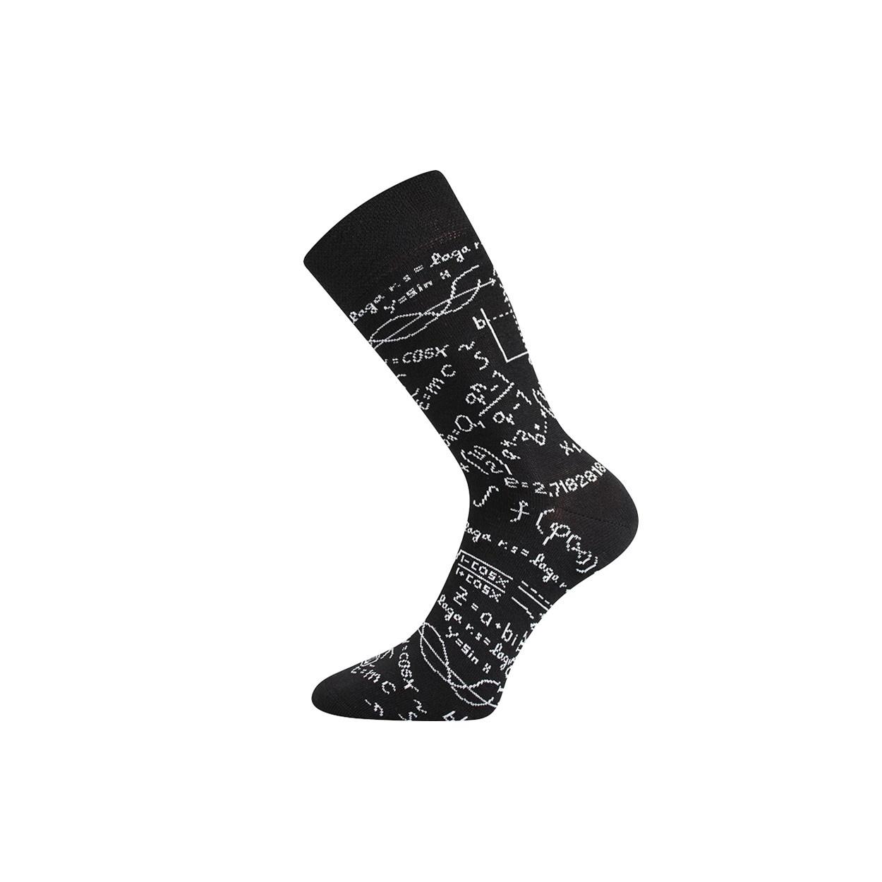 Černé pánské ponožky MATEMATICKÉ VZORCE