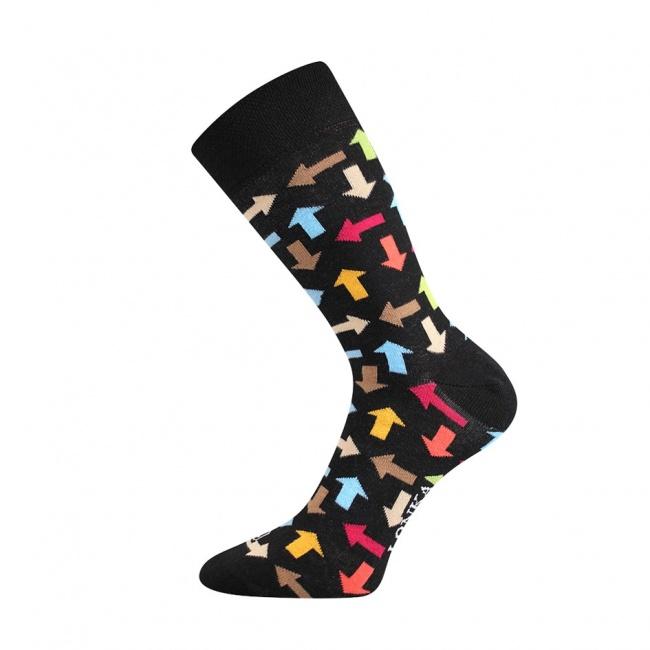 Černé pánské ponožky barevné ŠIPKY