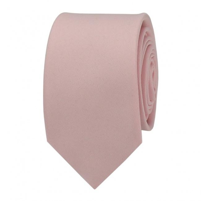 Světle růžová pánská kravata