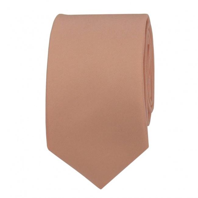 Pudrová pánská kravata