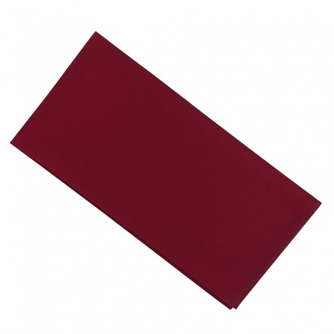 Vínově červený pánský kapesníček do saka matný