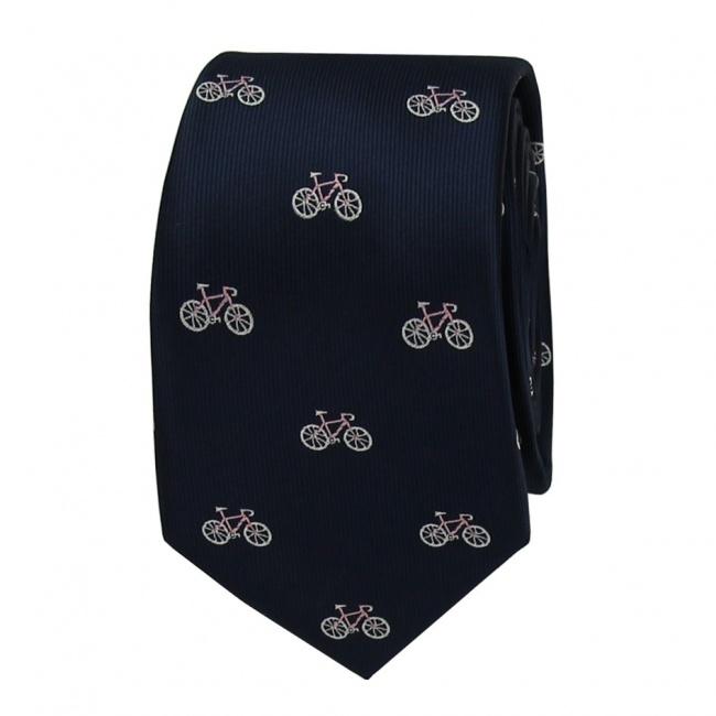 Tmavě modrá pánská kravata JÍZDNÍ KOLA