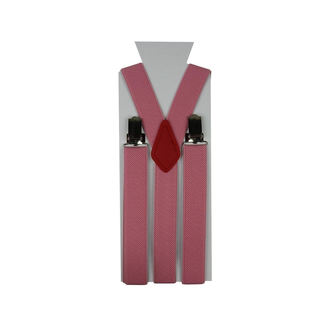 Moderní růžové pánské šle ve tvaru Y o délce 110 cm.