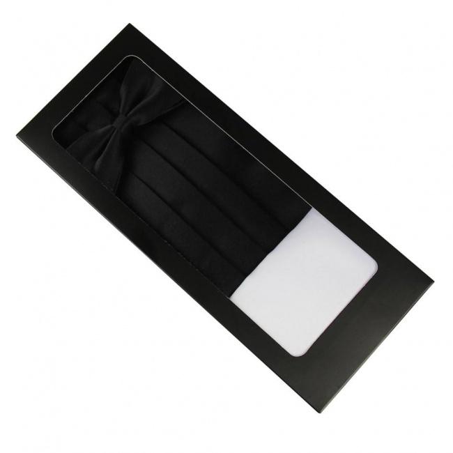 Černý smokingový pás v krabičce