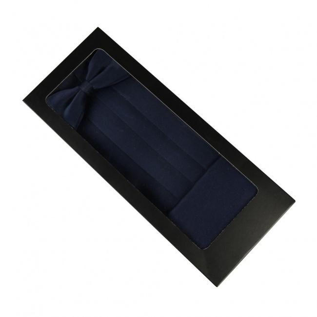 Modrý smokingový pás v krabičce