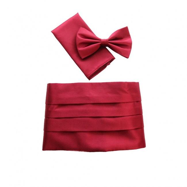Červený smokingový pás