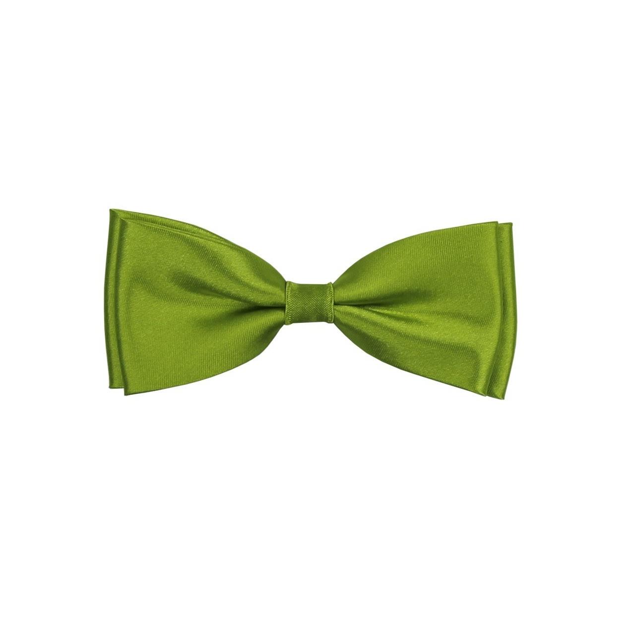 Jablíčkově zelený pánský motýlek lesklý