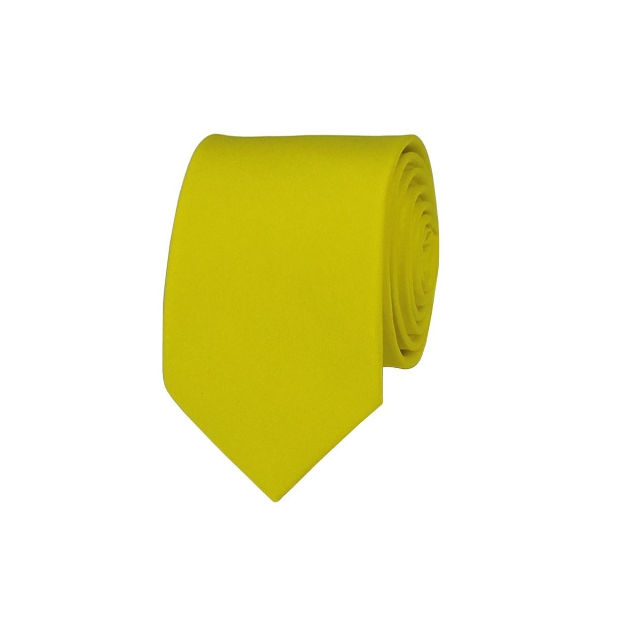 Žlutá pánská kravata
