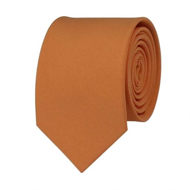 Oranžová pánská kravata