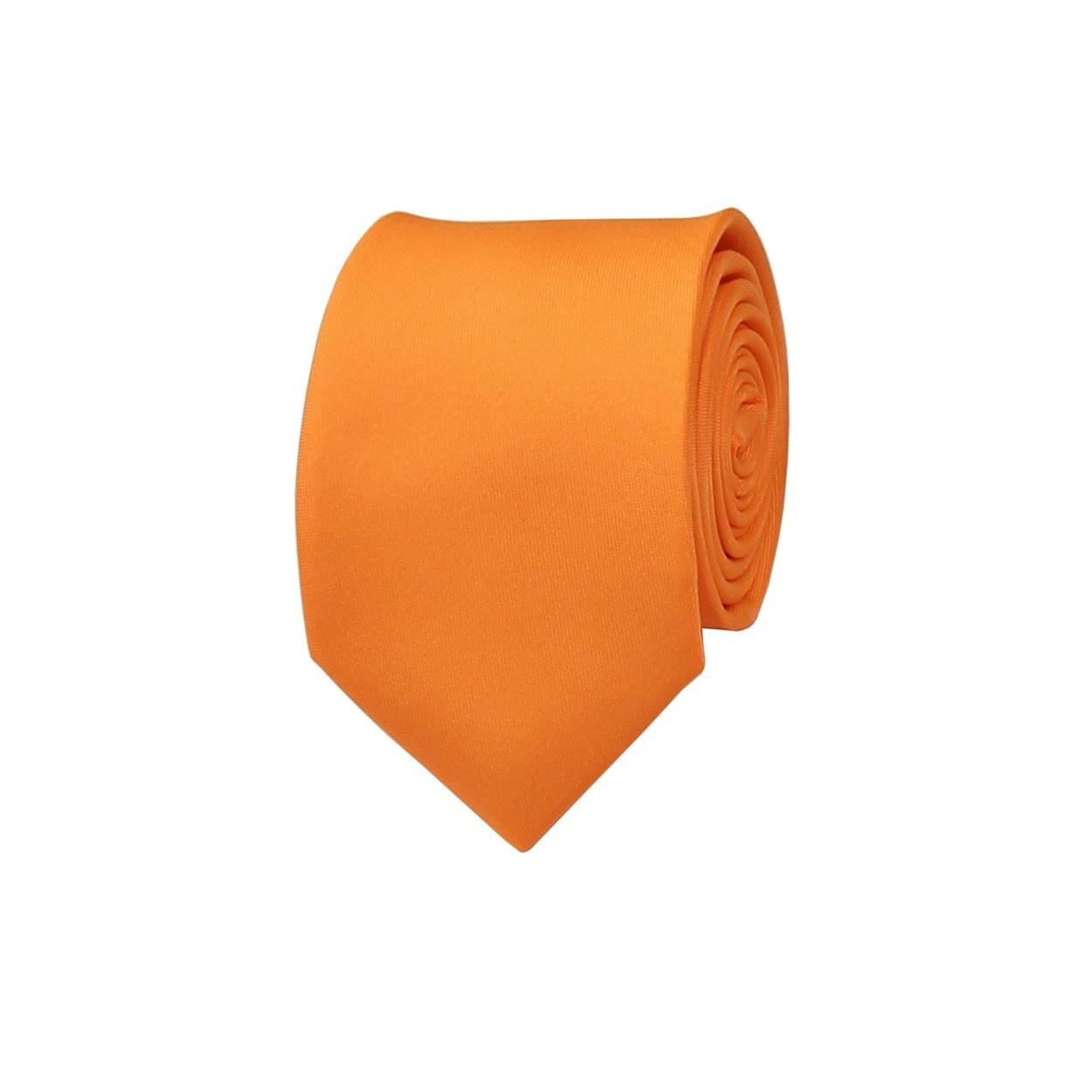 Neonově oranžová pánská kravata