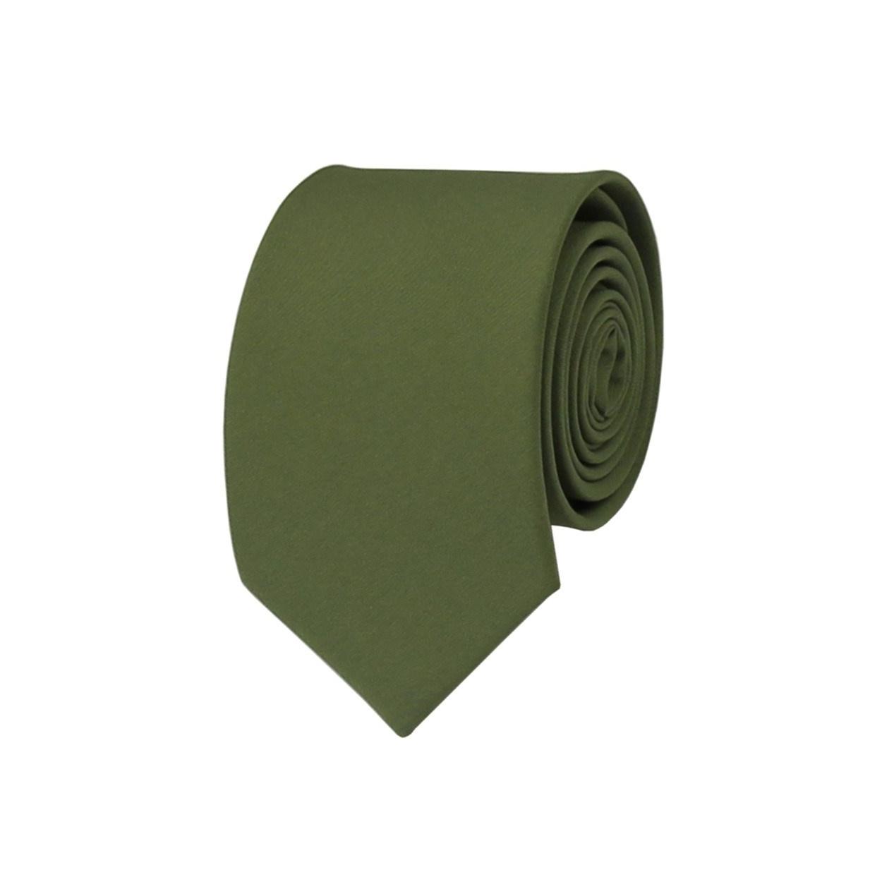 Khaki pánská kravata