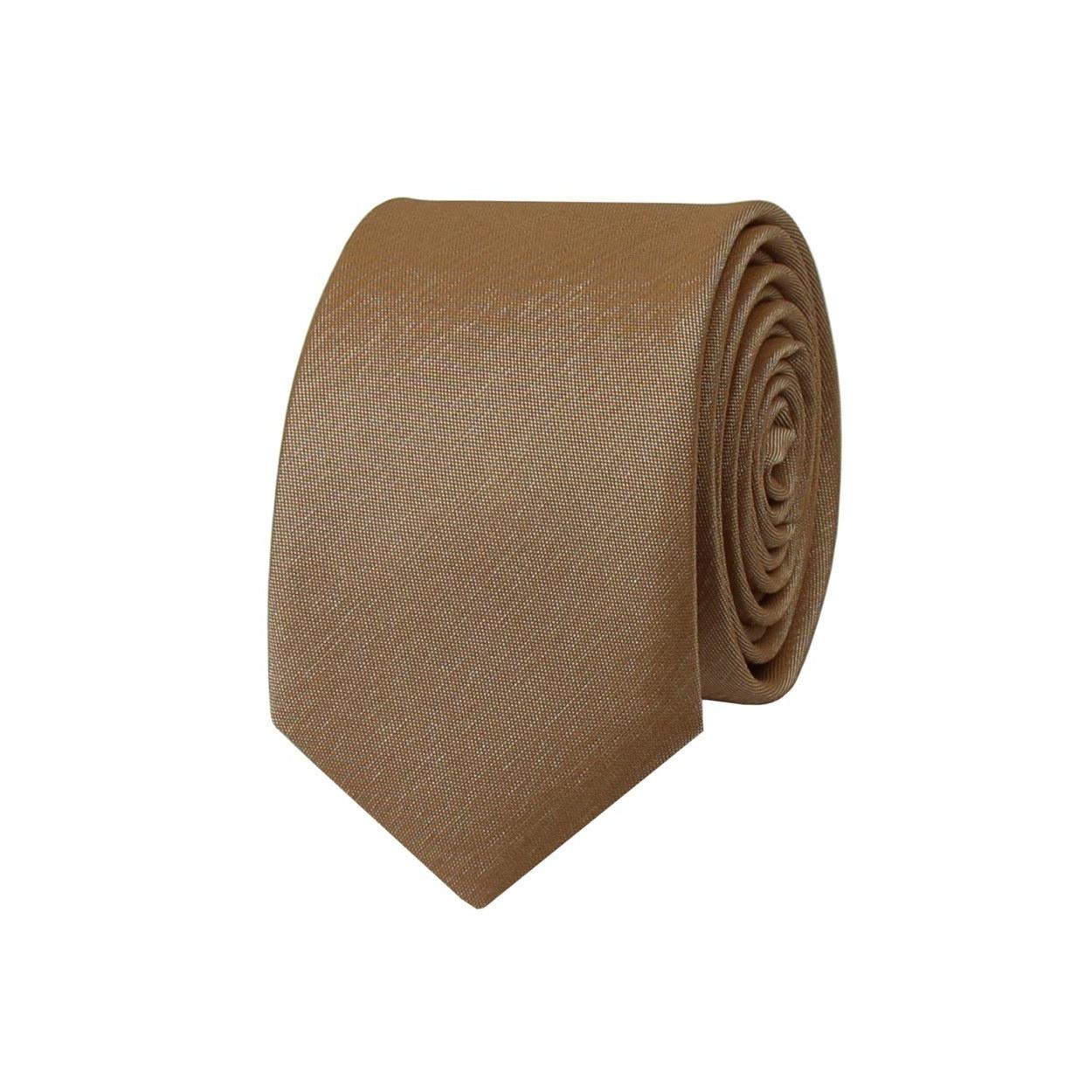 Hnědozlatá pánská kravata