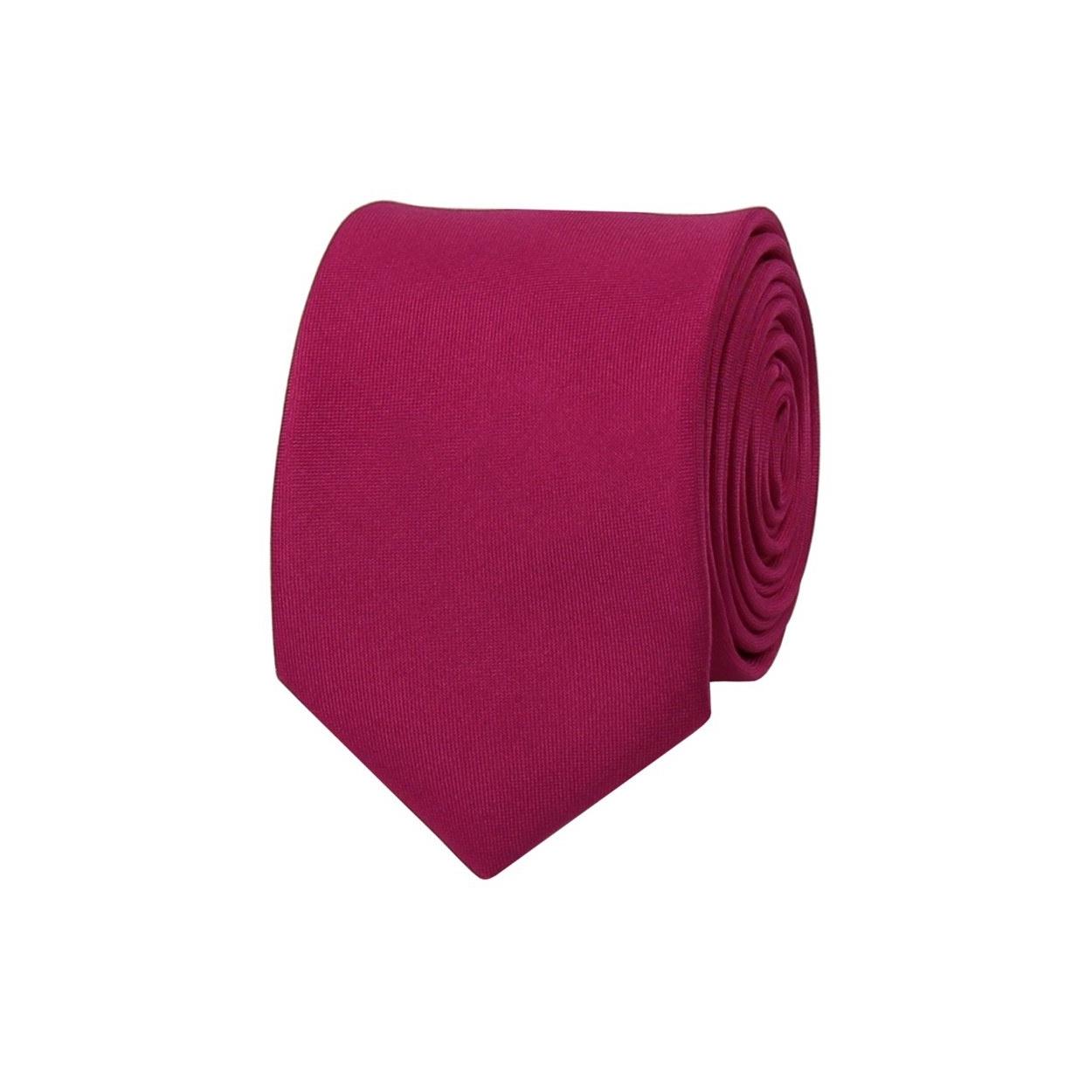 Cyklamově růžová pánská kravata