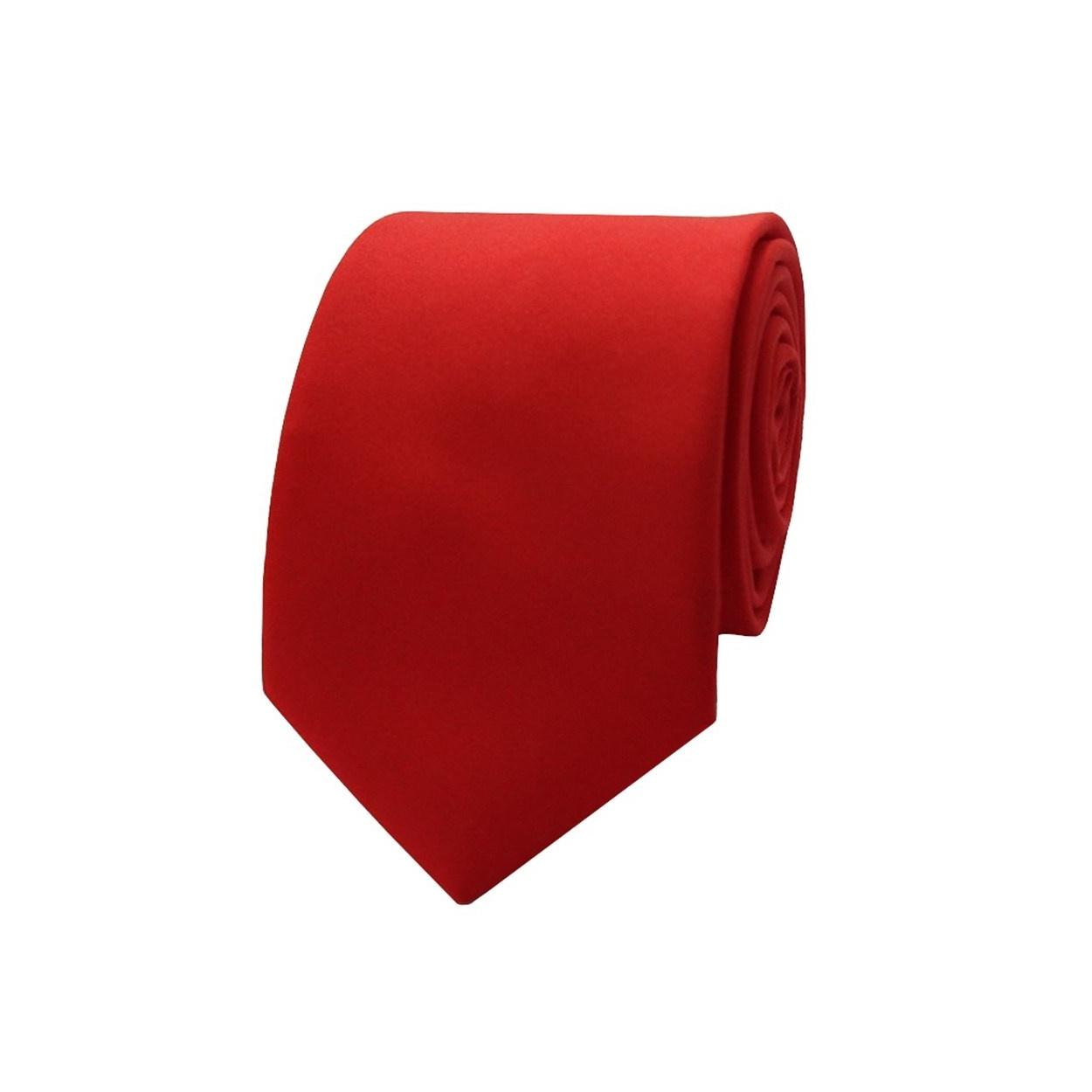 Červená pánská kravata