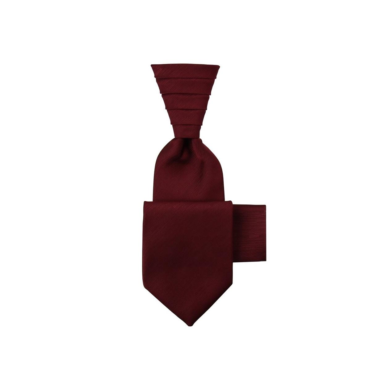 Vínově červená svatební kravata s kapesníčkem - Regata s jemným rýhováním