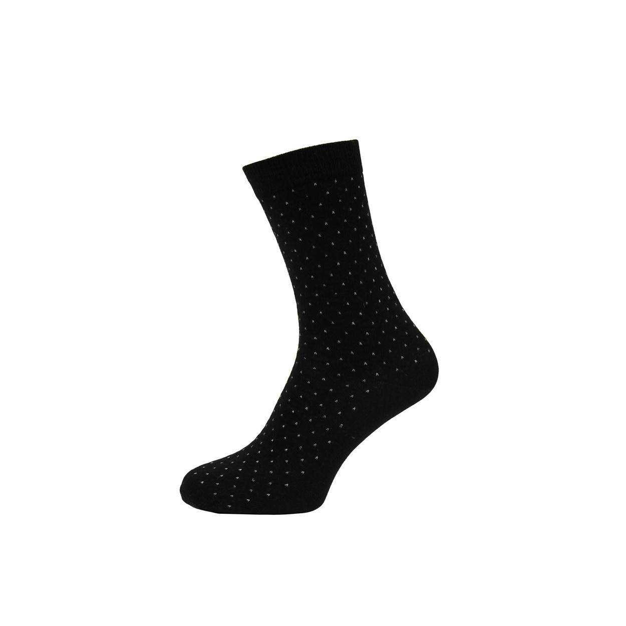 Černé pánské ponožky s puntíky