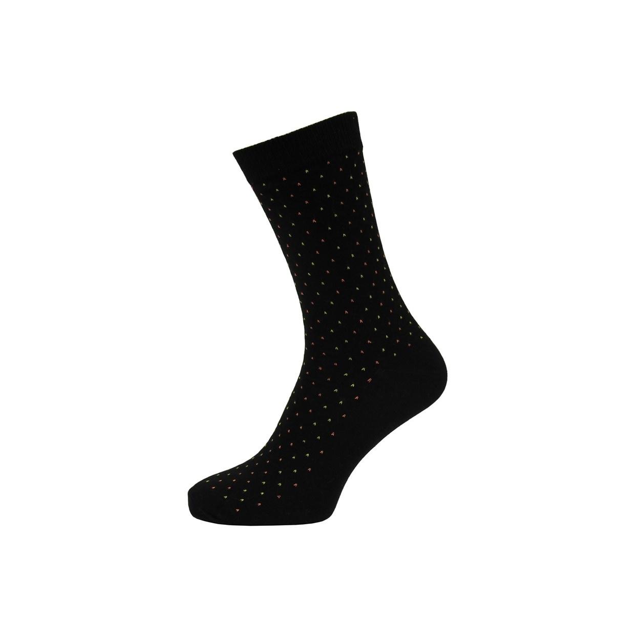 Černé pánské ponožky se žlutými puntíky
