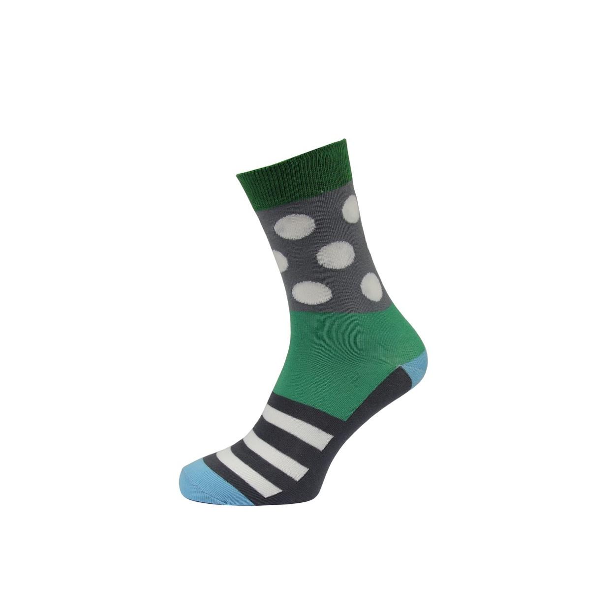 Šedo zelené pánské ponožky s bílými puntíky. Přidat do košíku 4855a98627