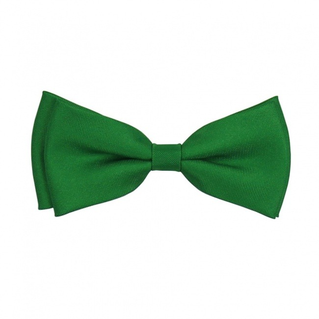 Zelený dětský motýlek matný