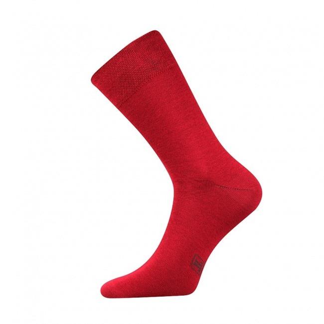 Vínově červené pánské ponožky Decolor
