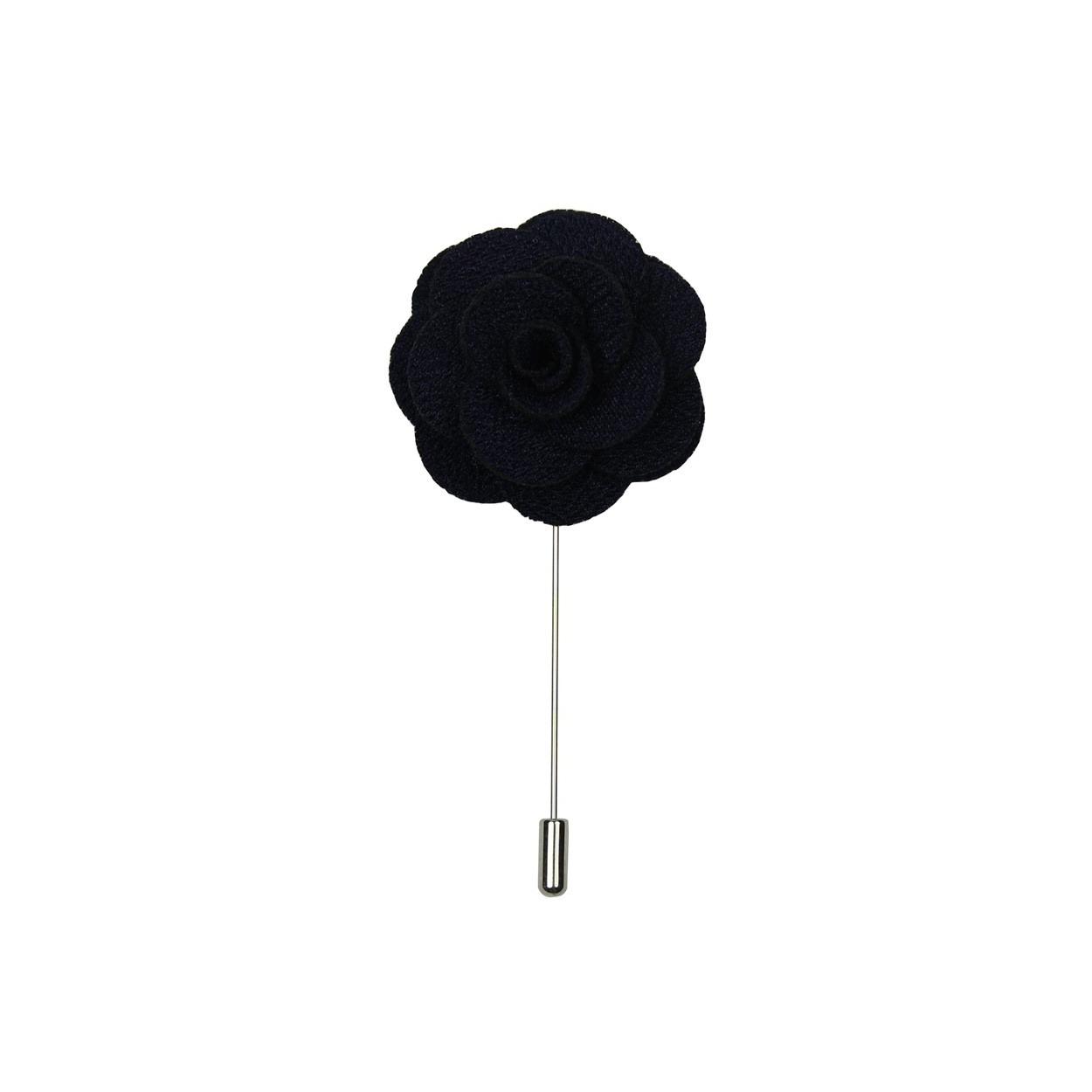 Tmavě modrá květina do klopy